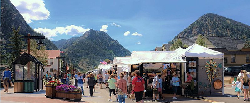 Frisco Colorado Art Festival on Main street