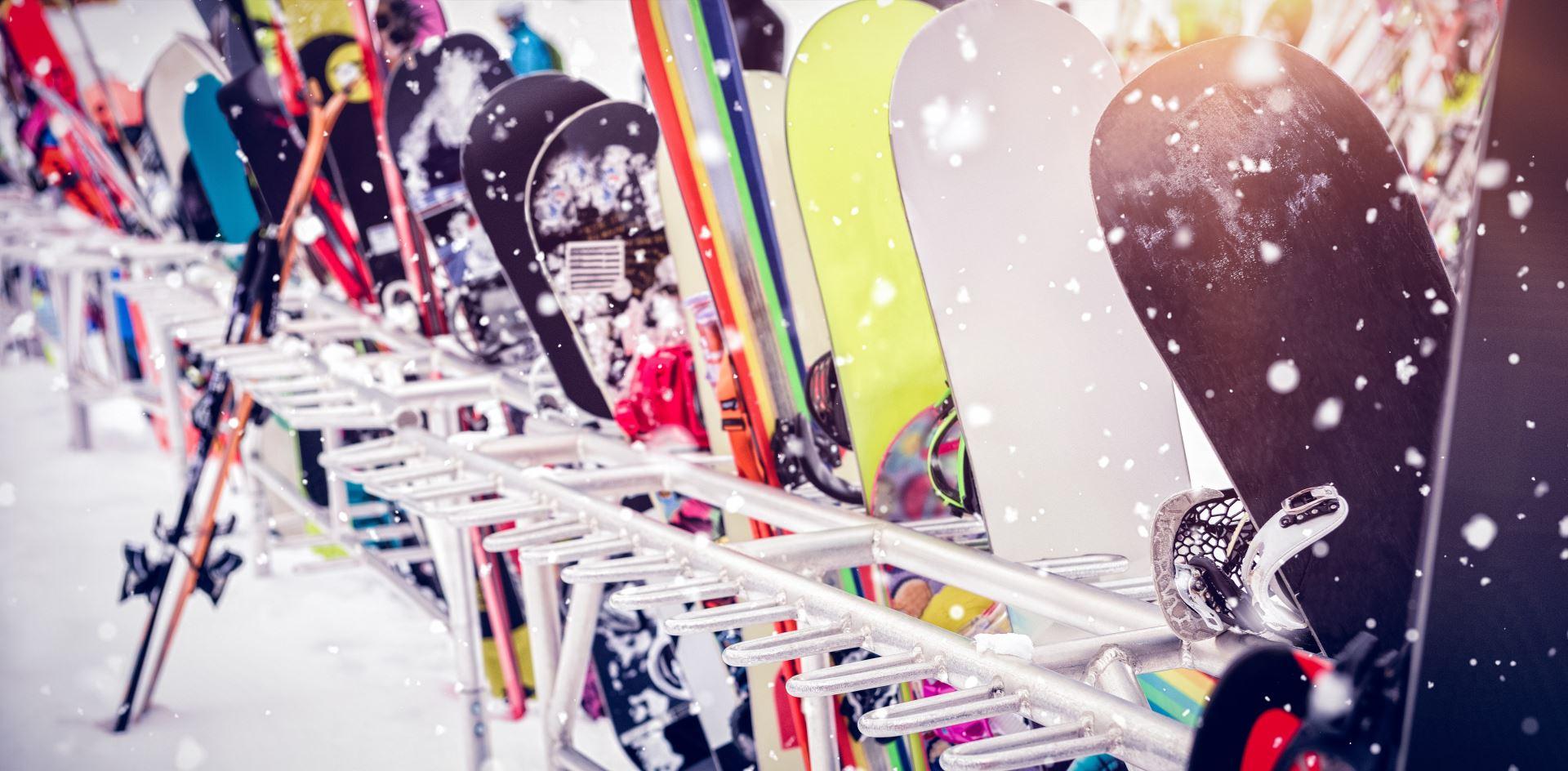 Ski Rack of Equipment